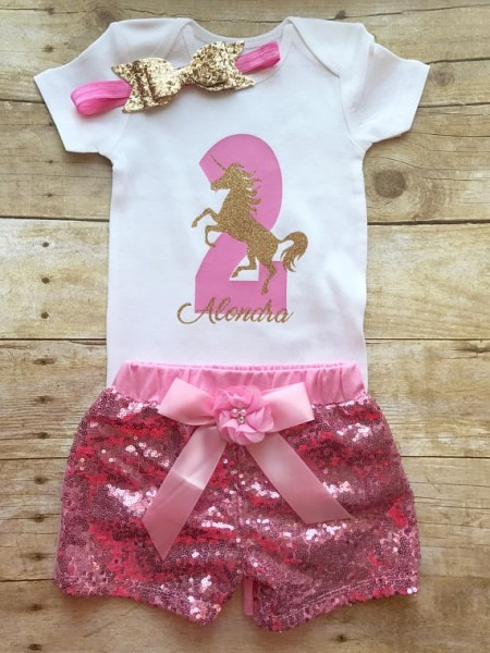 Second Birthday Outfit Girl, 2nd Birthday Outfit Girl, Unicorn