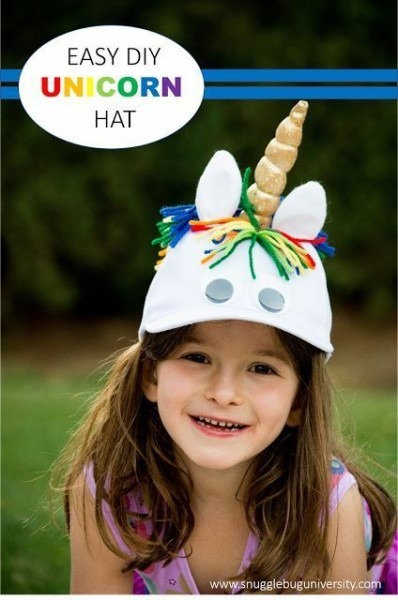 Snugglebug University  Make Your Own Unicorn Hat Using A Plain