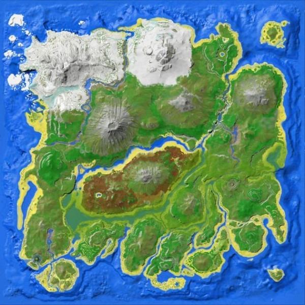 Spawn Map (the Island)