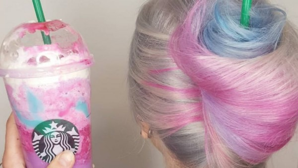 That Image Of Unicorn Frappuccino Hair All Over The Internet  It's