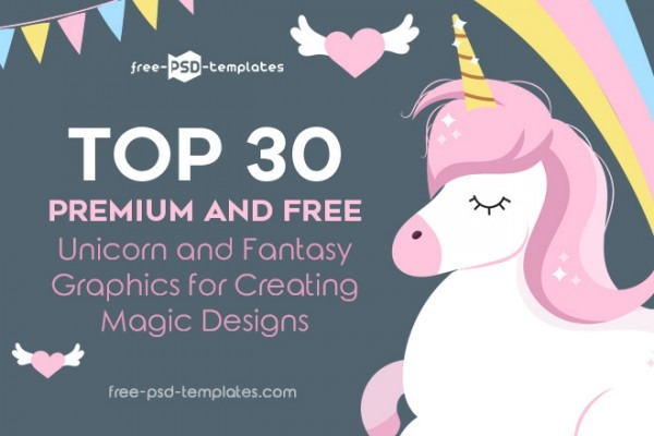 Top 30 Premium And Free Unicorn And Fantasy Graphics For Creating