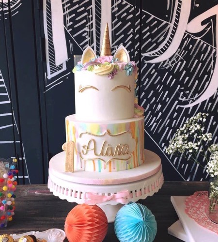Unicorn 2 Tier Cake