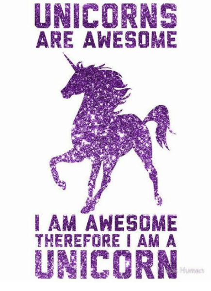 Unicorn Are Awesome Am Awesome Therefore I Am A Unicorn Human
