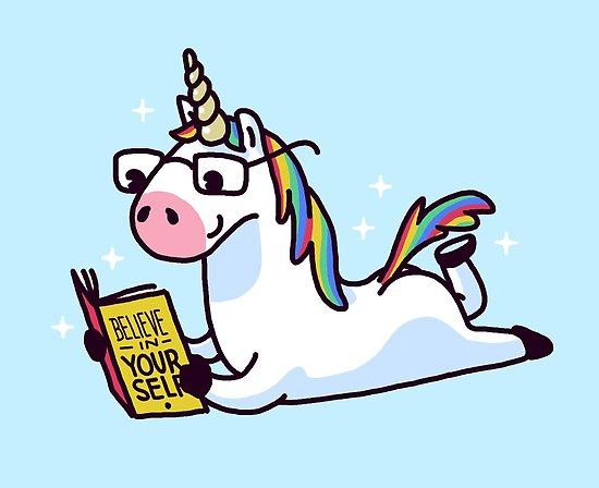 Unicorn Believe In Yourself Magically Fabulous Ii  Poster By