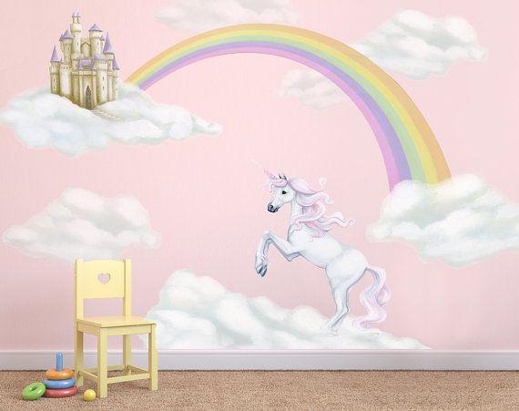 Unicorn Decals, Rainbow Decal, Unicorn Wall Stickers, Fairytale