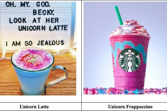 Unicorn Frappuccino Lawsuit Claims Starbucks Stole Drink From