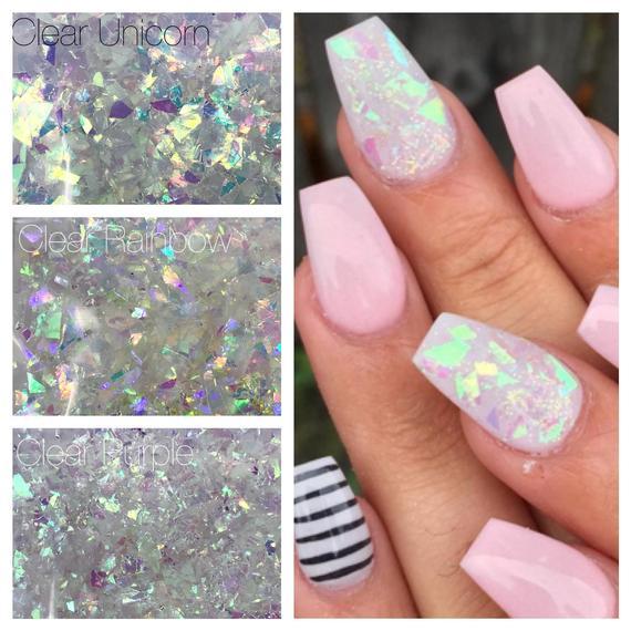 Unicorn Glitter Mix Mylar Flakes Iridescent 5 Gr 10gr 1 Tsp