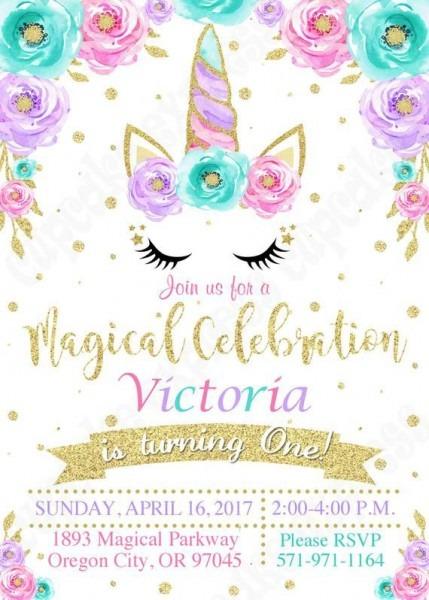 Unicorn Invitation, Unicorn Party, Magical Unicorn Invitation