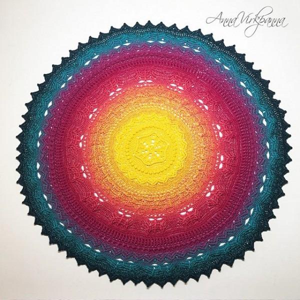 Unicorn Mandala Cal Free Crochet Pattern