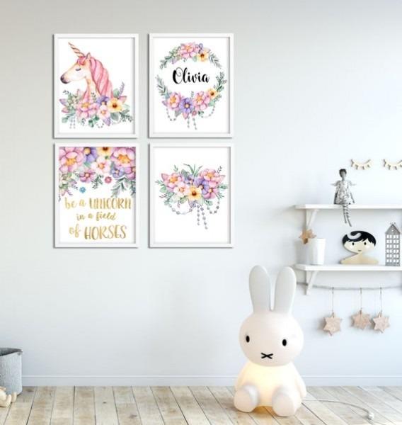 Unicorn Nursery Personalized Baby Girl Nursery Decor Unicorn