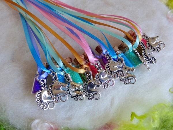 Unicorn Party Favors Pastel Rainbow 10 Necklaces Mystical