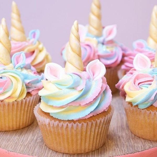 Unicorn Pastel Color Cupcake