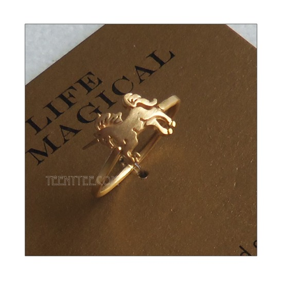 Unicorn Ring Gold Vermeil
