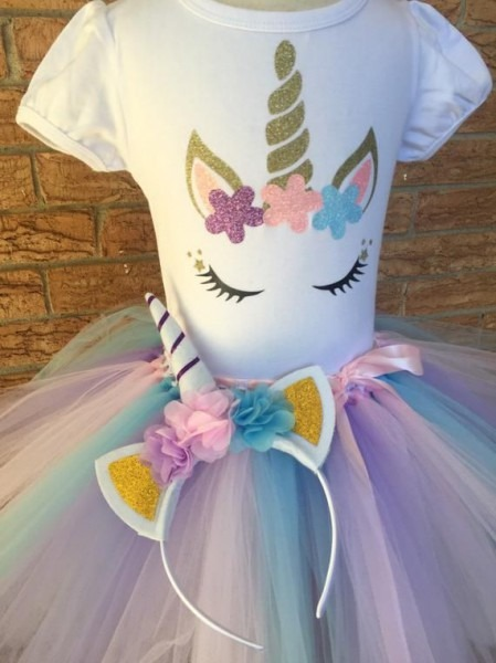Unicorn Shirt, Girl's Birthday Shirt, Birthday Outfit For Girls