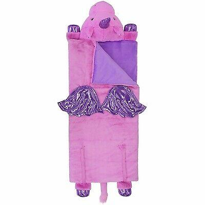 Unicorn Sleeping Bag Girls Pink Purple Kids Animal Adventure Size