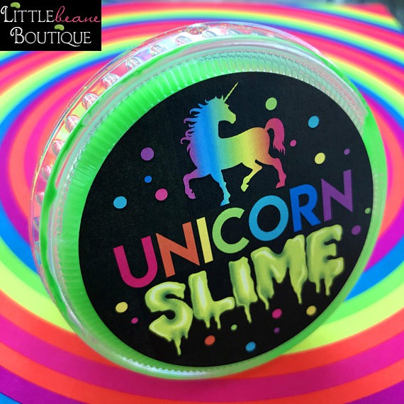 Unicorn Slime Stickers, Slime Party, Slime Labels, Diy Slime, Glow