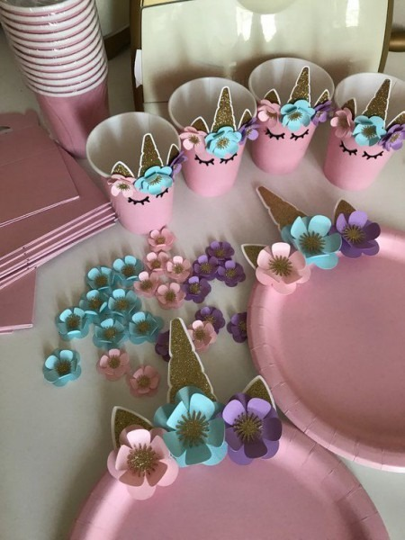 Unicorn Tableware, Unicorn Cup, Unicorn Plate, Unicorn Party