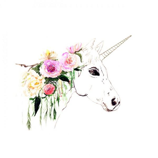 Unicorn, Watercolor