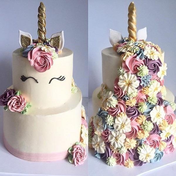 Unicorn Wedding Cake, Food & Drinks, Baked Goods On Carousell