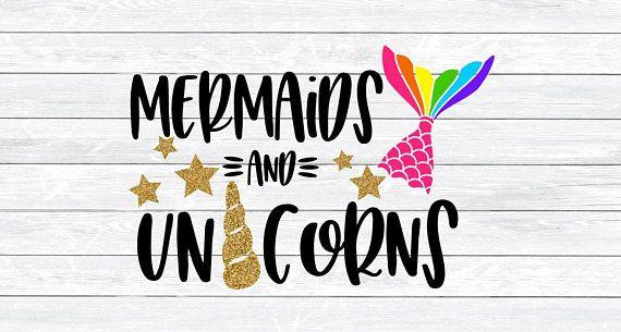 Unicorns And Mermaids, Unicorn Horn Svg, Mermaid Tail Svg, Unicorn
