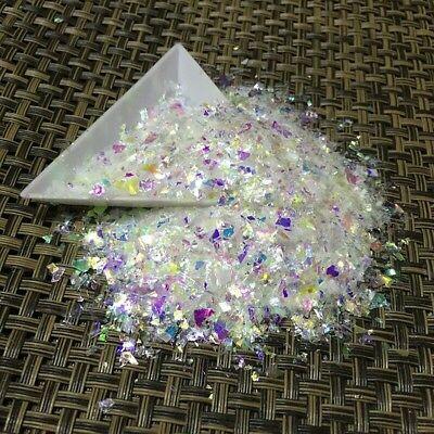 Usa Unicorn Flakes Cosmic Mylar Glitter White Rainbow Acrylic Gel