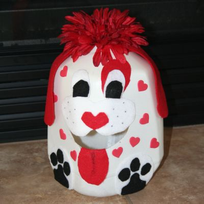 Valentine's Box Made Out Of Milk Jug