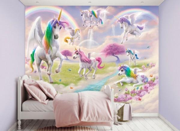Walltastic Magical Unicorn Wallpaper Mural For Kids Bedroom