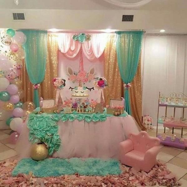 What A Gorgeous Unicorn Party Set Up For Unicorn Loving Girls