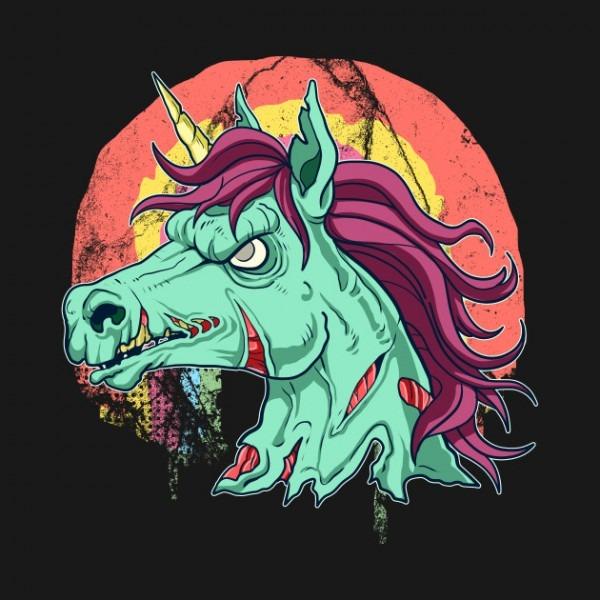 Zombicorn Zombie Unicorn Undead Scary Halloween T