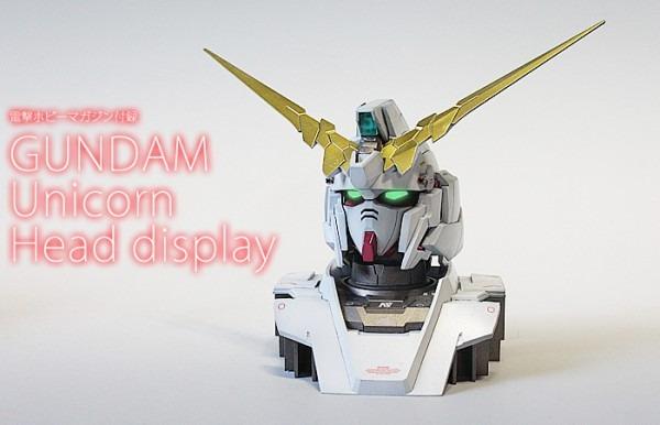 1 48 Unicorn Gundam Head Display  Assembled, Painted, Improved