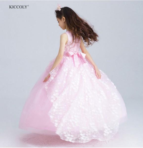 2018 Elegant Flower Girl Dresses For Weddings Gown Teenager Pink