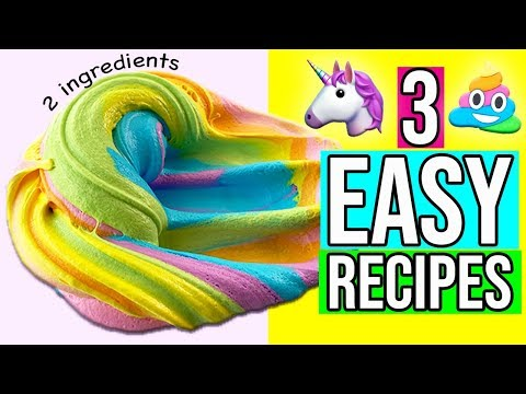 3 Easy Unicorn Slime Recipes Anyone Can Make!!! 🦄