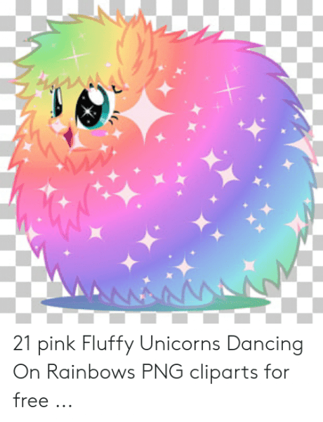 Aanna 21 Pink Fluffy Unicorns Dancing On Rainbows Png Cliparts For