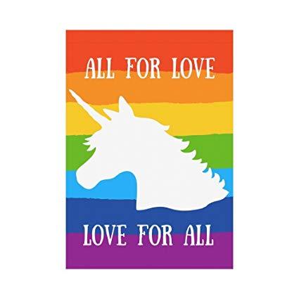 Amazon Com   Custom Home Outdoor Garden Flag Rainbow Unicorn