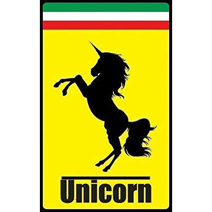 Amazon Com   Hot Stuff Merchandise Unicorn Ferrari Parody Auto