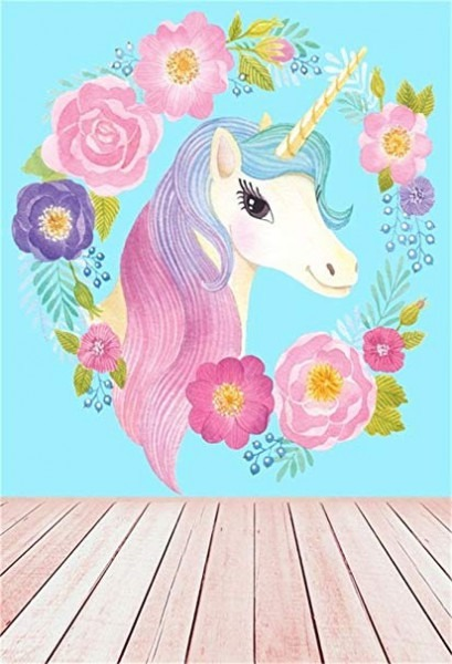 Amazon Com   Ofila Unicorn Backdrop For Girls 5x7ft Baby Shower