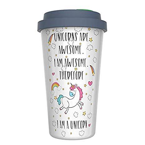 Amazon Com  Ceramic Travel Coffee Mug With Lid (12 Oz)