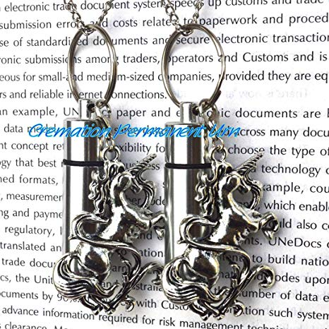 Amazon Com  Cremation Permanent Urn Unicorn Urn Necklace Jewelry