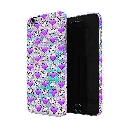 Amazon Com  Cute Heart & Unicorn Emoji Pattern Hard Plastic Phone