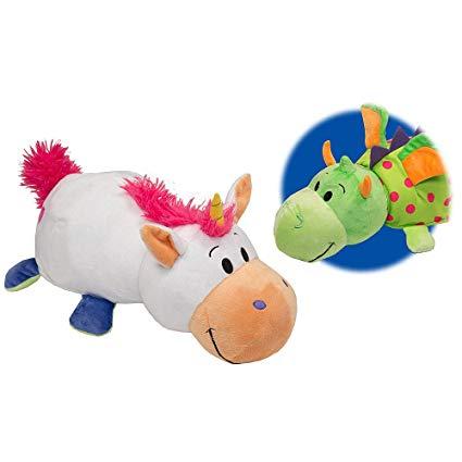 Amazon Com  Flip A Zoo 14  Unicorn To Dragon Plush  Toys & Games