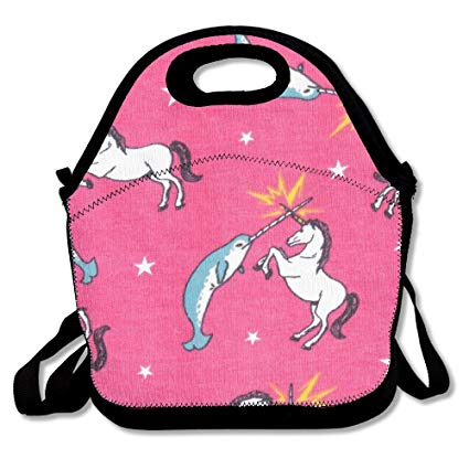 Amazon Com  Funny Narwhal Unicorn Fighting Classic Lunch Bag