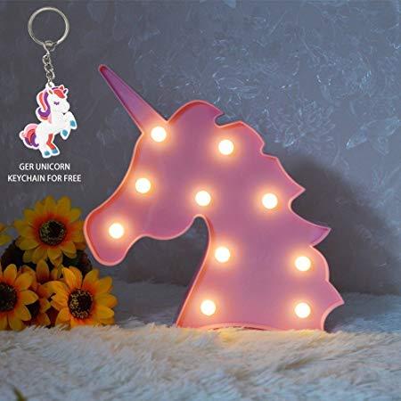 Amazon Com  Glintee Unicorn Led Night Lamp Decorative Marquee