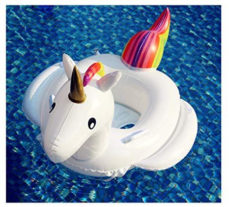 Amazon Com  Ilishop Unicorn Inflatable Raft For Kids White  Toys
