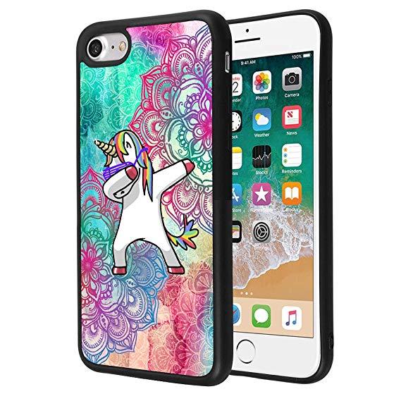 Amazon Com  Iphone 7 Plus 8 Plus Case,mandala Unicorn Case For