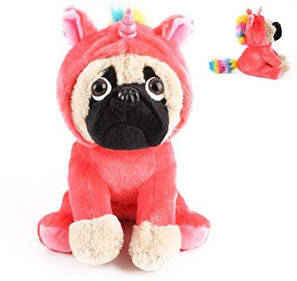 Amazon Com  Joy Amigo Cute Pug Stuffed Animal Pugicorn Dog Dressed