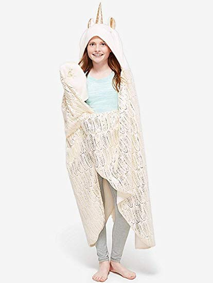 Amazon Com  Justice Cream Unicorn Cozy Blanket  Home & Kitchen