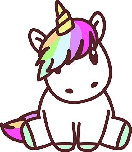 Amazon Com  Kawaii Unicorn With Rainbow Hair Sitting Baby Magical
