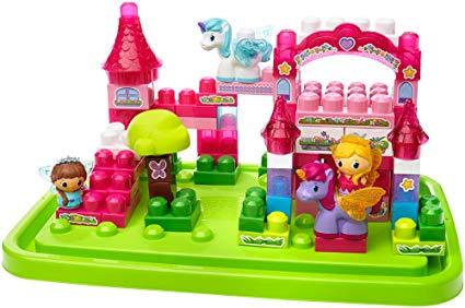 Amazon Com  Mega Bloks Lil' Princess Shimmering Palace Tub  Toys