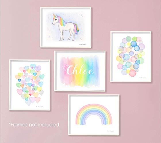 Amazon Com  Pastel Rainbow Unicorn Nursery Art Set  Handmade
