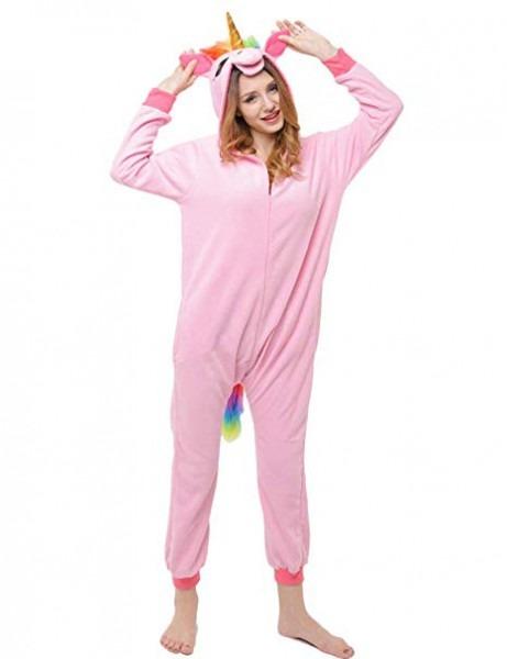 Amazon Com  Pink Unicorn Onesie For Adult Women And Girls  Zipped